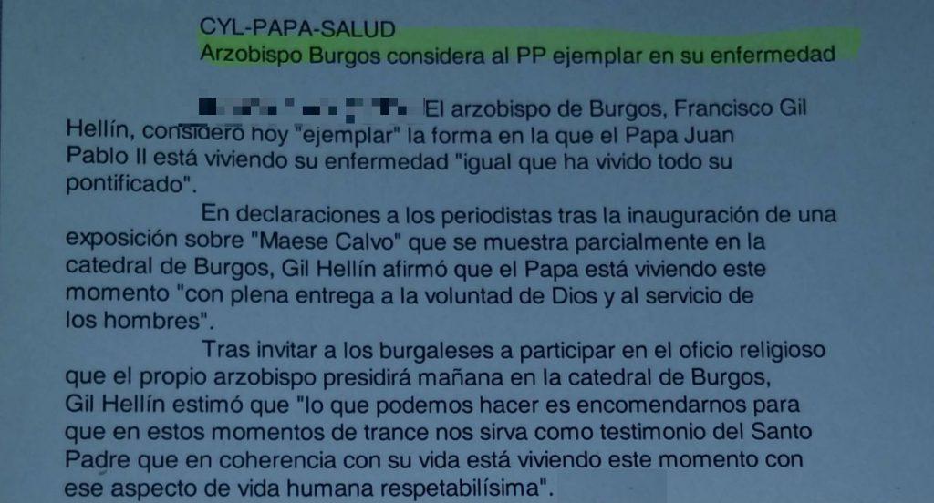 El Papa y el PP