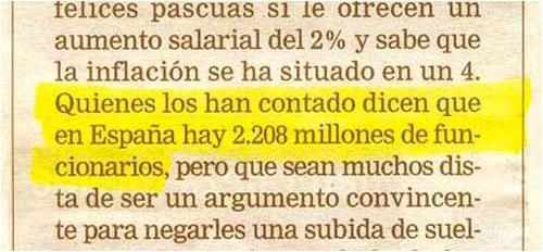 millones de funcionarios en España