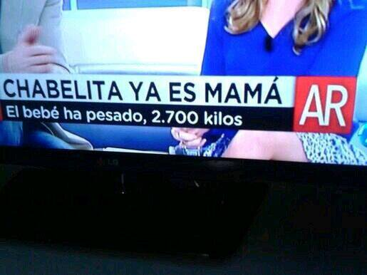 El bebé más grande del mundo Chabelita